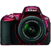 Nikon 1547 D5500 24.2 Megapixels DX-Format Digital SLR Camera with 18-55 mm Lens - 3.2-inch LCD Display - Red