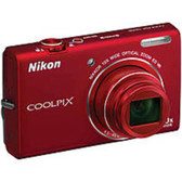 Nikon Coolpix 26275 S6200 16 Megapixels Digital Camera - 10xOptical Zoom/4x Digital Zoom - 2.7-inch Display - Red - 26275