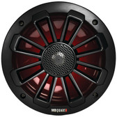 MB Quart NK1-116LB Nautic Series 6.5 120-Watt 2-Way Coaxial Speaker System with Matte Black Finish (With LED Illumination)