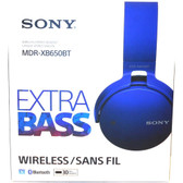 Sony XB650BT Extra Bass Bluetooth Headphones - Stereo - Blue - Wireless - Bluetooth - 24 Ohm - 20 Hz - 20 kHz - Over-the-head - Binaural - Circumaural - MDR-XB650BT/L - BVBVBVTFL-MDR-XB650BT/L-FACTORY-SEALED