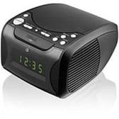 GPX Desktop Clock Radio - Apple Dock Interface - Proprietary Interface - 2 x Alarm - AM, FM - USB - Charging Dock