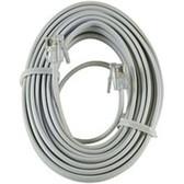 GE 030878121941 12194 12 Feet Phone Line Cord - White