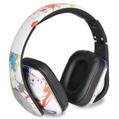 Life N Soul BN350-WSP After Romeo Wireless Bluetooth Foldable Designer Over-Ear Headphones w/Built-in Mic (White Spread) - BN350-WSP - BVBVBVEVTK-BN350-WSP