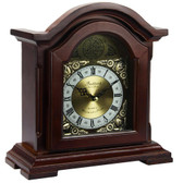 Bedford Clock Collection Redwood Mantel Clock with Chimes - BED6003-RB