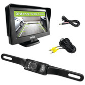 PYLE PLCM46 4.3 Monitor & Backup Swivel-Angle Adjustable Camera System with Distance-Scale Lines & Parking Assist