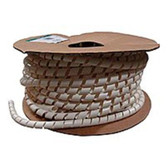 Panduit T12R-CY Spiral Wrap - Fire Resistant Polyethylene - Natural - Cable Wrap