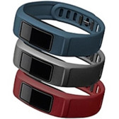 Garmin 010-12336-01 Vivofit 2 - Activity Tracker Wrist Bands - 3pk - Downtown colors - Burgundy/Slate/Navy - 010-12336-01
