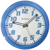 WESTCLOX 32004BL 7.75 Translucent Wall Clock (Blue)