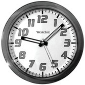 WESTCLOX 32004BK 7.75 Translucent Wall Clock (Black)