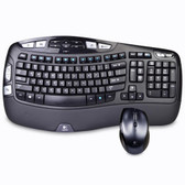 Logitech MK570 Comfort Wave Wireless Keyboard & Laser Mouse Combo w/USB Unifying Nano Receiver (Black/Gray) - B