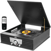 PYLE PTT25UBT Retro-Style Bluetooth(R) Turntable Vinyl Record Player