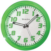 WESTCLOX 32004G 7.75 Translucent Wall Clock (Green)