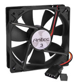 4.75 x 4.75 (120mm) Antec Nine Hundred 3-Blue LED Case Fan w/3-Speed Switch & 4-Pin Connector (Black)
