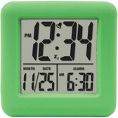 EQUITY BY LA CROSSE 70903 Soft Cube LCD Alarm Clock (Green)