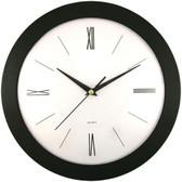 TIMEKEEPER 6437 12 Round Roman Black Wall Clock