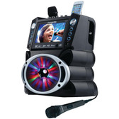 KARAOKE USA GF842 DVD/CD+G/MP3+G Bluetooth(R) Karaoke System with 7 TFT Color Screen & LED Sync Lights