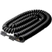 Steren BL-322-025BK Coiled Handset Cable - for Phone - 25 ft - Black