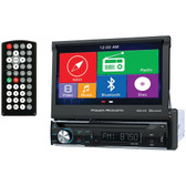 POWER ACOUSTIK PDN-726B 7 Single-DIN In-Dash GPS Navigation Motorized LCD Touchscreen DVD Receiver with Bluetooth(R)