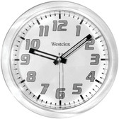 WESTCLOX 32004 7.75 Translucent Wall Clock (White)