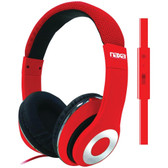 NAXA NE-943 RED BACKSPIN Pro Headphones with Microphone (Red)