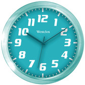WESTCLOX 32004T 7.75 Translucent Wall Clock (Teal)