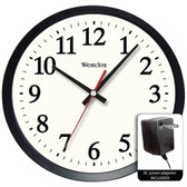 WESTCLOX 32189A 14 Round Electric Powered Office Wall Clock