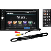 SOUNDSTORM DD663BR 6.2 Double-DIN In-Dash Touchscreen Multimedia Player with Bluetooth(R) & License-Plate Camera