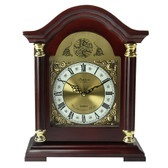 Bedford Clock Collection Redwood Mantel Clock with Chimes - BED1924