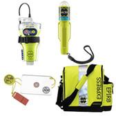 ACR EPIRB Safety Kit #2 - w/GlobalFix V4 Cat II, RapidDitch Express Bag, C-Strobe H20,  HotShot Mirror  Whistle