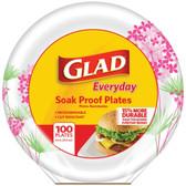 Glad BBP0095 8.5 Paper Plates, 100-ct (Round, Pink Hydrangea)