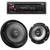 KENWOOD PKG-125 Single-DIN In-Dash CD Receiver & Speaker Bundle