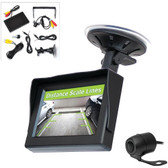 PYLE PLCM44 4.3 LCD Monitor System & Backup Camera with Parking/Reverse Assist