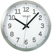 TIMEKEEPER 2253 9 Brushed Metal Round Wall Clock (White Face)