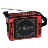 QFX Karaoke Multimedia Speaker with FM Radio- Red - CS-151RED_RB - BVBVBVMEGA-CS-151RED_RB