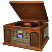 Crosley Radio CR2405C-PA Director Turntable CD Recording Entertainment Center (Paprika) CR2405CPA