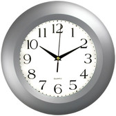 TIMEKEEPER 6409 11 Round Silver Wall Clock