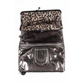 ONE SIZE Nine West Womens Handbag 234401 BLK GUNMETAL