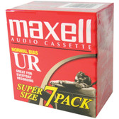 MAXELL 108575 Normal-Bias Cassette Tapes (7 pk)
