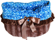 Blue Western Reversible Snuggle Bugs Pet Bed, Carrier Bag, and Car Seat All-in-One