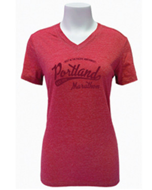 110 Womens Red Blend Casual Tee