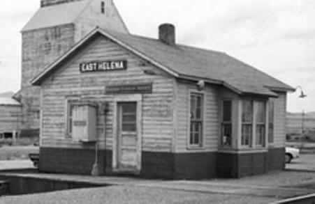 HO-Scale East Helena Depot/Telegraph Office