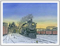 NP 2165 Leaving Duluth MN Winter Cards