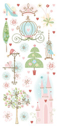 Disney Princess Collection Princess in Dreamland Glitter Sticker Sheet by Sandylion