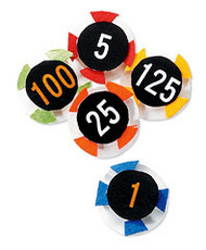 Casino Chips 3-D Scrapbook Embellishment by Jolee's By You