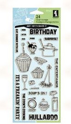 Socialize Acrylic Stamp Set from Inkadinkado - 24 Clear Stamps