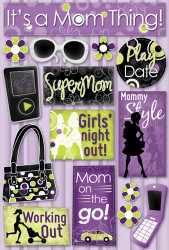 Mom Style Collection Mommy Style Cardstock Sticker Sheet by Karen Foster Design