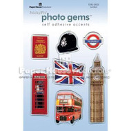 London, England Photo Gem Epoxy Stickers by Paper House Productions