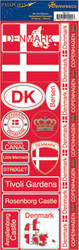 Passports Collection Denmark Die Cut Stickers by Reminisce