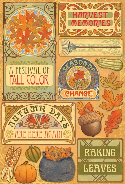 Grateful Hearts Collection Colors of Fall Cardstock Stickers by Karen Foster Design