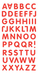 Red Alphabet Sticker Essentials by Sandylion